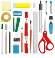 work draw sketch stationary set vector image