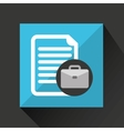 briefcase technology icon vector image