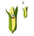 Cheerful smiling cartoon corn vegetable vector image