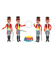 circus trainer whip in his hand classic vector image