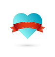 Heart and ribbon symbol logo icon vector image