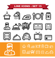 Line icons set 15 vector image