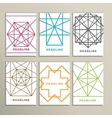 Set bright abstract shapes on a white background vector image