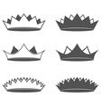 Set of six Crown Isolated vector image