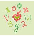 100 percent vegan vector image