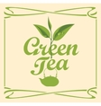 label for green tea vector image vector image
