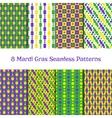 Set of Mardi gras patterns vector image