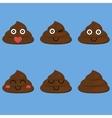 set of cut poop vector image