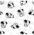 seamless pattern with cute puppy dog vector image