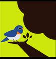 Little bird on the tree vector image