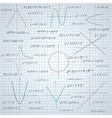 Mathematics paper background vector image