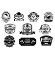 Black and white barber shop labels vector image