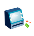 ATM or Automated Teller Machine on White Backgroun vector image