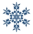Beautiful Blue Snowflake Isolated On White vector image