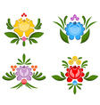 Flower Gorodets painting Russian national folk vector image