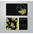 flowers business cards set vector image