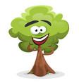 funny cartoon tree character vector image