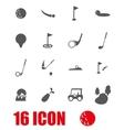 grey golf icon set vector image