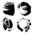 Round textured prints with paint on paper set 3 vector image