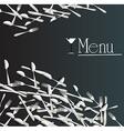 menu restaurant vector image vector image