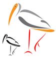 flamingo vector image