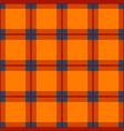 orange red blue tartan seamless background vector image