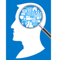 searching the network in human head vector image vector image