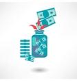 money jar icon vector image