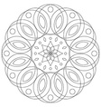 Round floral ornament Coloring mandala page vector image