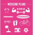 Weekend plans vector image vector image