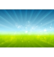 Abstract sunny landscape background vector image