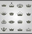 Crowns Set copy vector image