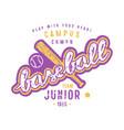 emblem of baseball junior team vector image