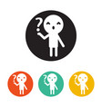 icon person and question flat design style vector image