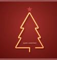 modern neon christmas tree background vector image