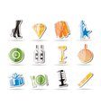 Simple luxury party and reception icons vector image
