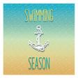 Swimming season design vector image