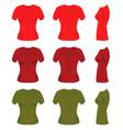 women t-shirt templates vector image