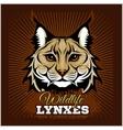 Lynxes - emblem vector image