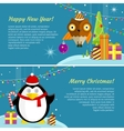 Set of Winter Holidays Concept Banners vector image vector image