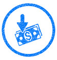 income rounded grainy icon vector image