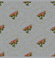 seamless texture light denim with printed flowers