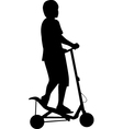spacescooter silhouette vector image