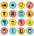 Flat Design Colorful Cosmetics Icons vector image