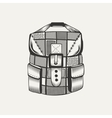 a backpack vector image