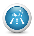 City Wifi glossy icon vector image