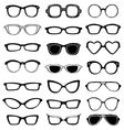 Drawn glasses set vector image