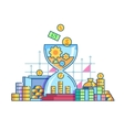 Time is money flat concept vector image