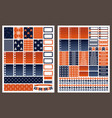 marine printable stickers for planner vector image