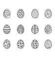 black easter egg outline vector image vector image
